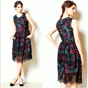 ANTHROPOLOGIE Wolven Terrace Lace Dress